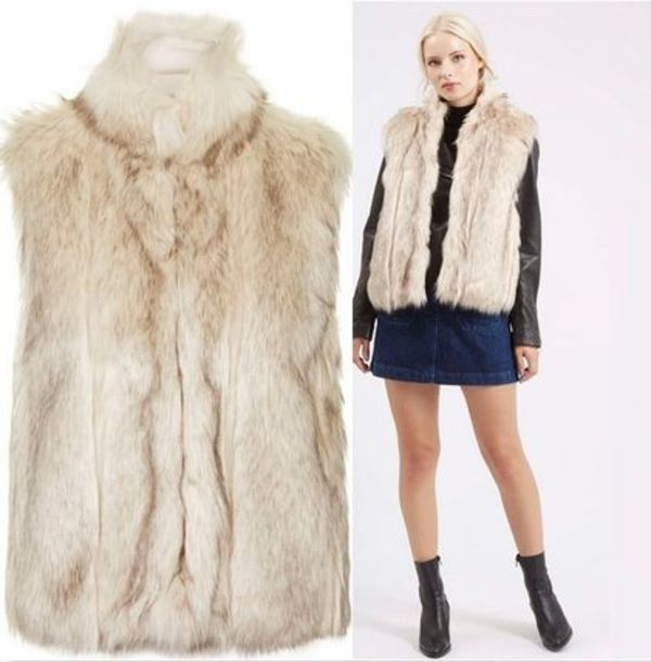 秋冬最新作★Faux Fur Polo Neck Gilet