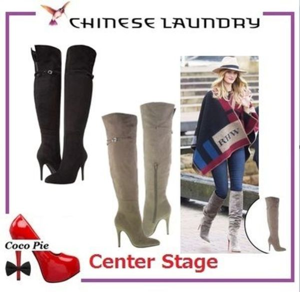 【Chinese Laundry☆膝上ブーツ 2色】Center Stage