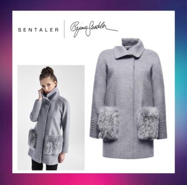 セントーラー【SENTALER】STRAIGHT CUT COAT WITH FUR POCKETS