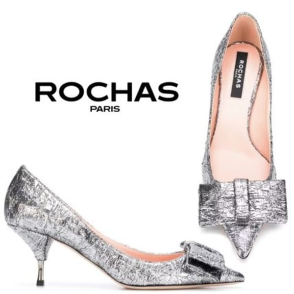 【VERY11月タキマキ着用】★ROCHAS★bow pumps