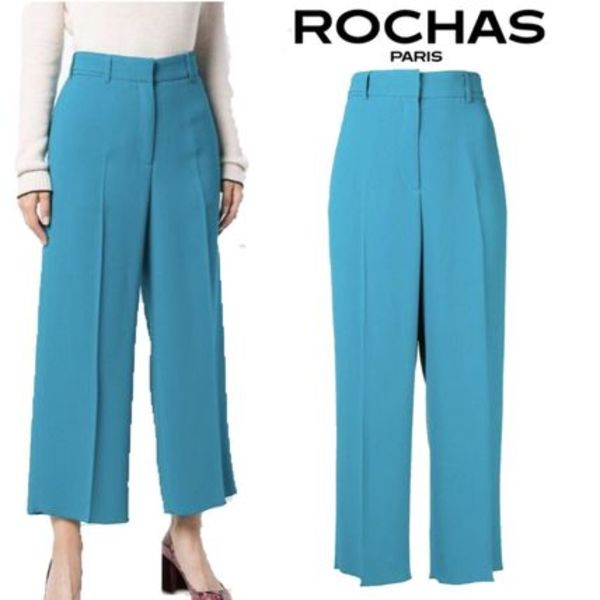 【18AW】★ROCHAS★cropped wide leg trousers
