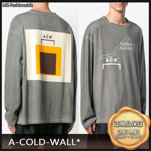 [19AW]送料込み◆A Cold Wall ロゴプリント コットン ロンT