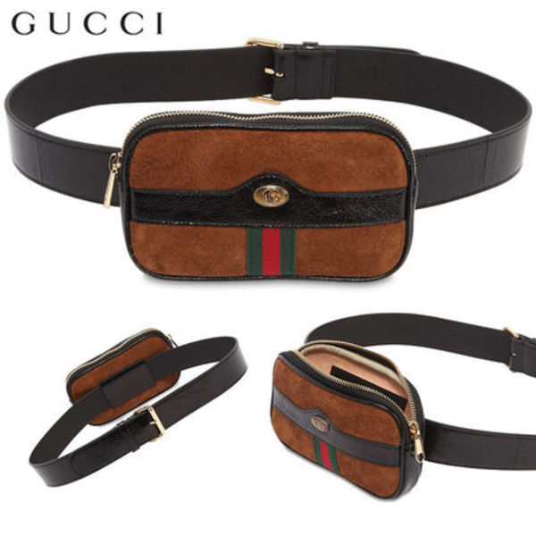 【正規品保証】GUCCI★18春夏★MINI OPHIDIA SUEDE BELT PACK