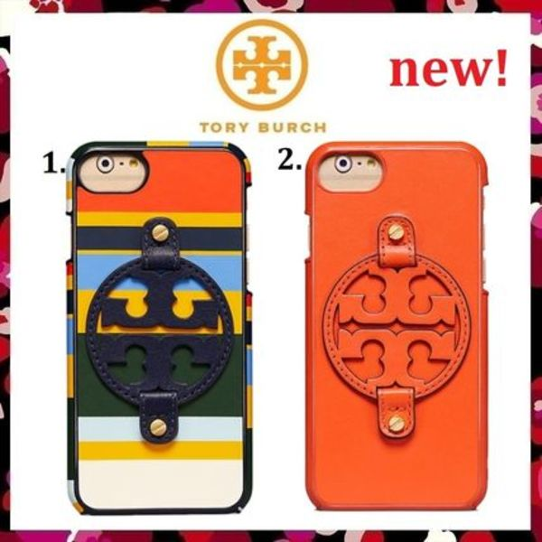 新作 セール Tory Burch  Miller Leather Case For iPhone8