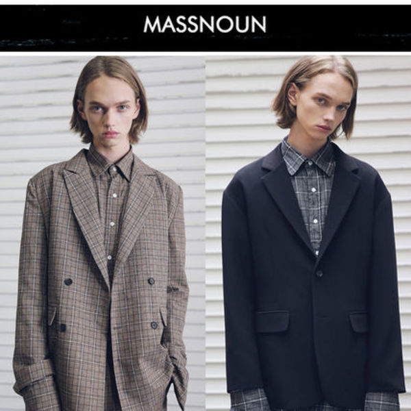 MASSNOUN(マスノウン) DL CHECK DOUBLE JACKET MFEJK 18