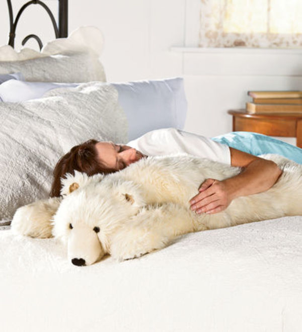 日本未入荷 Bear Hug Body Pillows - Polar Bear  白熊  大型枕