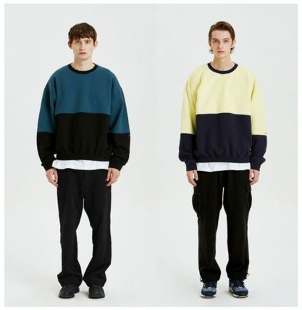 (LIFUL) COLOR BLOCK SWEATSHIRT (全2色・3size・追跡あり)