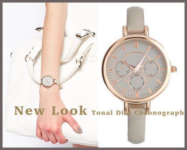 国内2~3日☆ミンク時計/NEW LOOK Tonal Dial Chronograph Watch