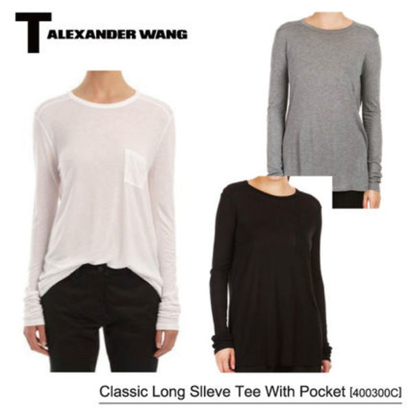【T by Alexander Wang】Classic Long Sleeve Tee With Pocket