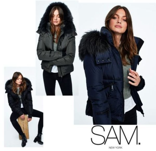送料込&追跡便でお届け♪ SAM. New York FUR JETSET JACKET