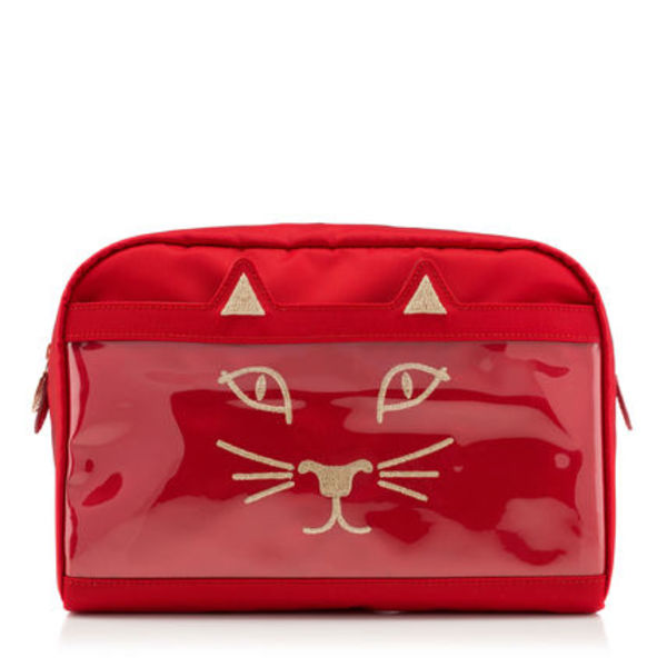 CHARLOTTE OLYMPIA Kitty 猫 Purrrfect ポーチ レッド 赤 Large