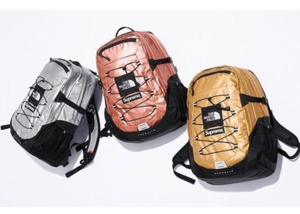 Week7新作!SUPREME18SS★TNF NORTH FACE Metallic Backpack