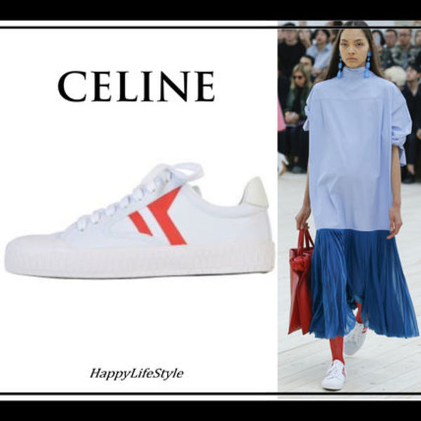 RUNWAY◇Canvas and Leather スニーカー◇CELINE