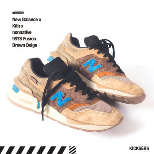 話題!New Balance x Kith x nonnative 997S Fusion Brown Beige