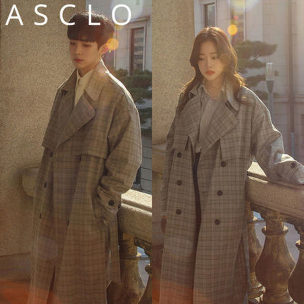 ★ASCLO★ LW GT Checked BB Coat