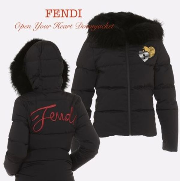 【FENDI】OPEN YOUR HEART DOWNJACKET☆送料・関税込