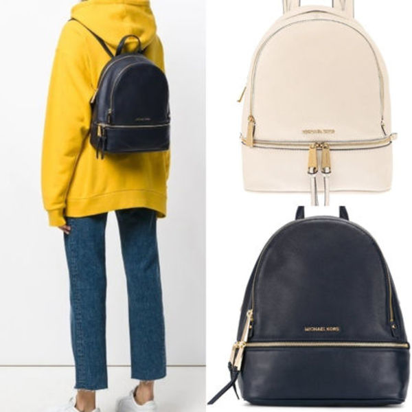 即発★MICHAEL KORS★RHEA SMALL LEATHER BACKPACK バックパック