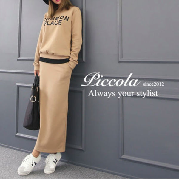 ■PICCOLA■新作 2COLOR♪スタイルUPスエットセットアップ
