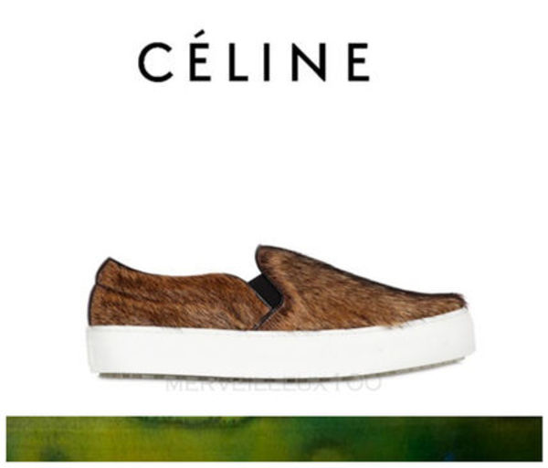 国内発送 15AW CELINE SKATE SLIP ON IN NATURAL