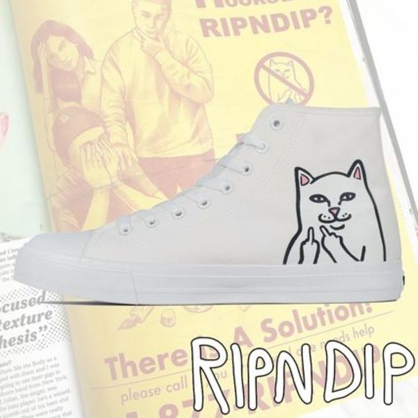 RIPNDIP(リップンディップ) Lord Nermal High-Top Shoes (White)