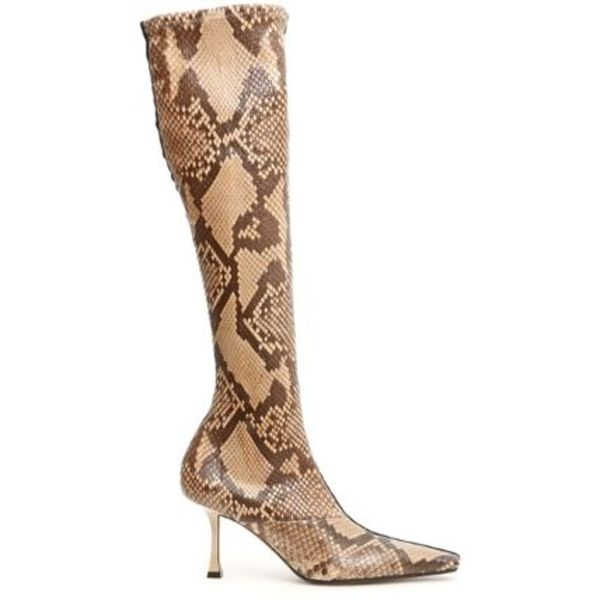 CELINE Python And Suede Boots
