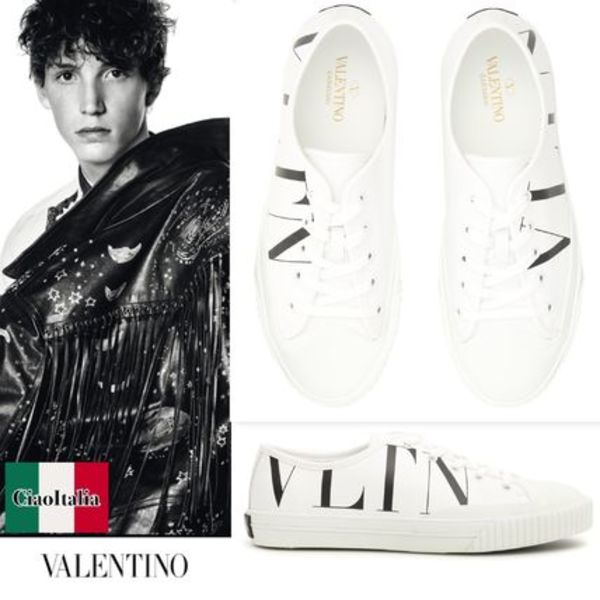 VALENTINO Leather VLTN LOGO Sneakers