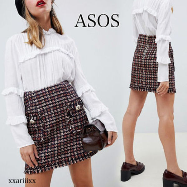 ◆NEW◆ASOS◆ River Island ツイード スカート