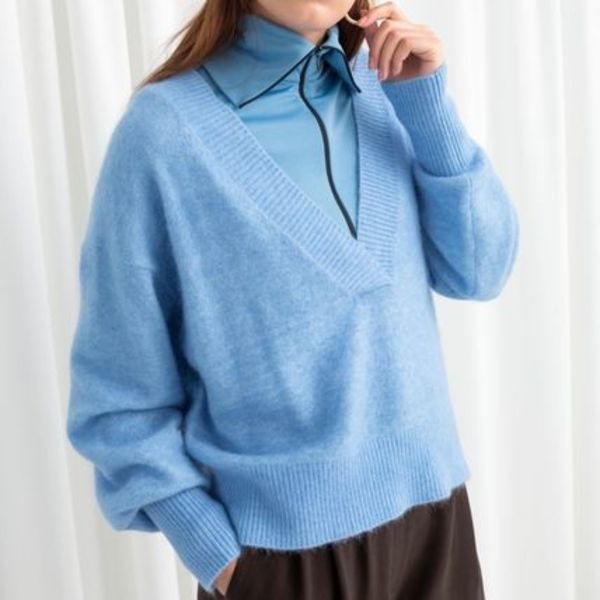 & Other Stories - Plunging V-Cut Sweater