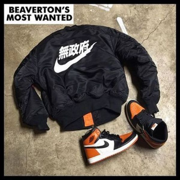 Beavertons Most Wanted ANARCHY BOMBER 無政府 NIKE ブラック
