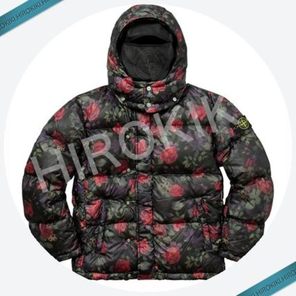 17AW★Supreme Stone Island Lamy Cover Stampato Puffy Jacket
