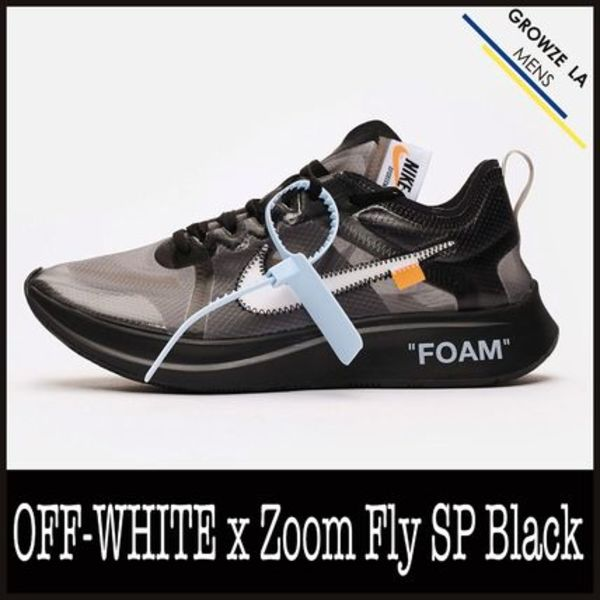 ★【NIKE】追跡発送 コラボ OFF-WHITE x Zoom Fly SP Black