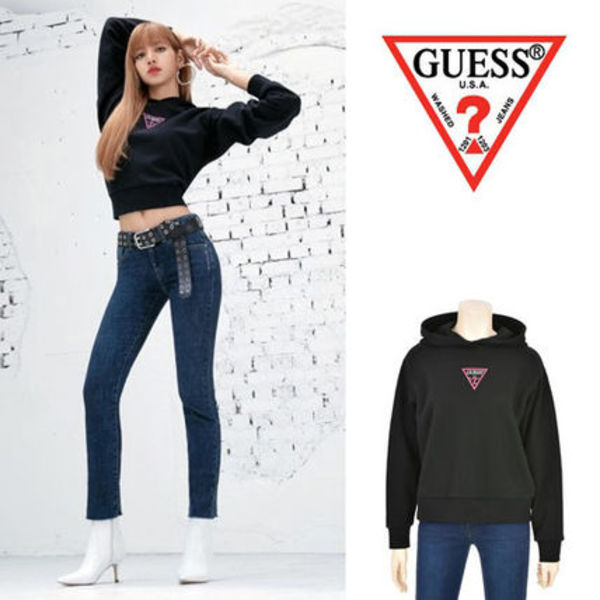 GUESS★BLACKPINK着用★W'S SIGNATURE LOGO HOODY 3色