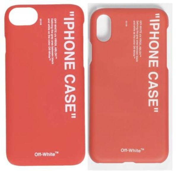 【関税込】新作■Off-White■IPHONE CASE ロゴ  iPhone 8 / X