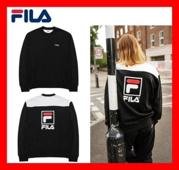 2018AW-19AW★人気★【FILA】★STACKED BLOCK SWEATSHIRTS★