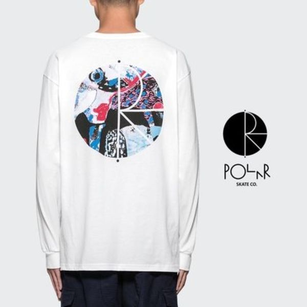 送料関税込【Polar Skate Co】Orchid Fill L/S ロゴ Tシャツ