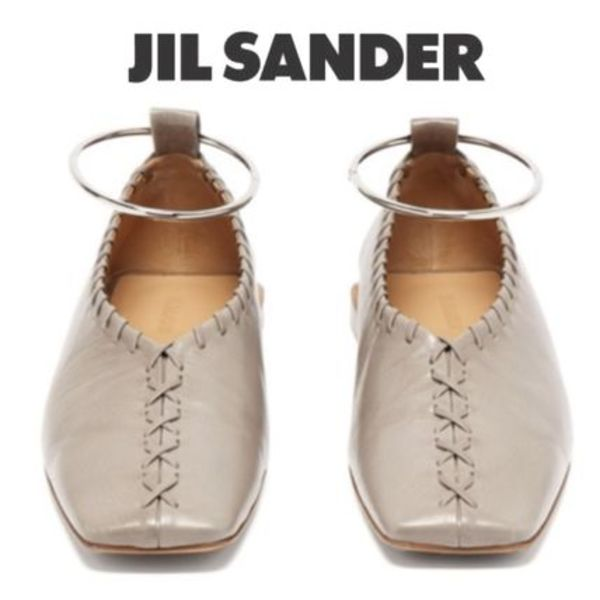 【19SS】★Jil Sander★Whipstitched leather ballet flats