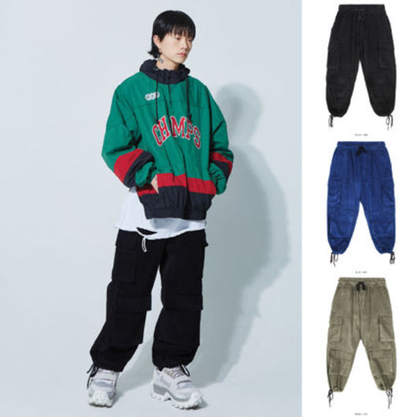 【OPENTHEDOOR】corduroy wide cargo pants (3 color) - UNISEX