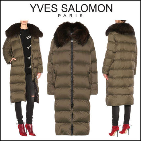 YVES SALOMON ARMY(イヴサロモン)★Fur-trimmed down jacket