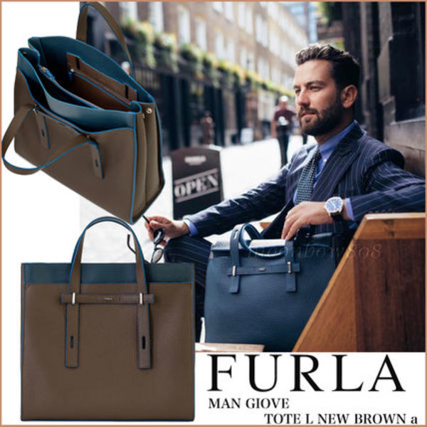 【2017AW☆新作】FURLA MAN GIOVE TOTE L NEW BROWN a