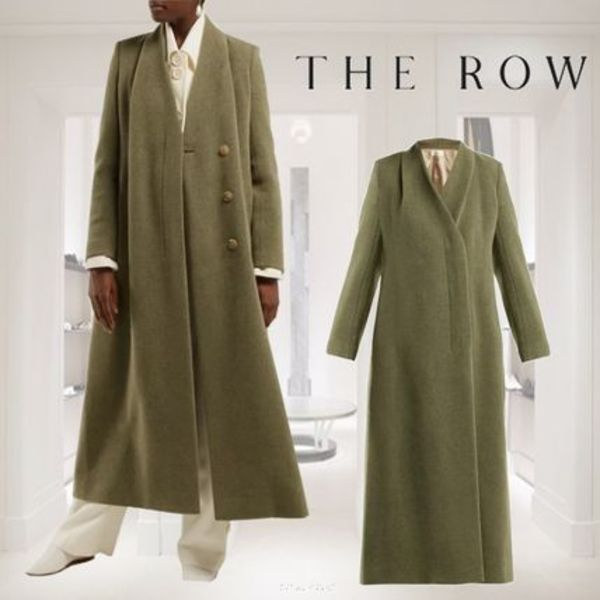 18AW★RUNWAY★THE ROW★Nalty double-breasted wool-blend coat