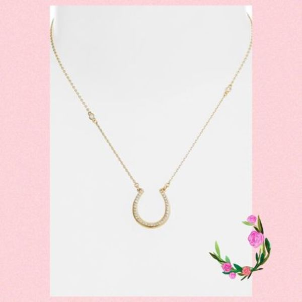 Kate Spade★WILD ONES PAVE HORSESHOE MINI PENDANT★セール