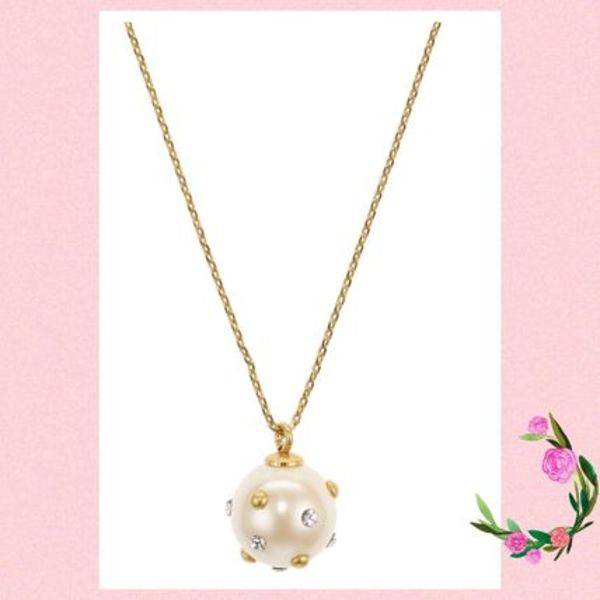 Kate Spade★Pave-Studded Simulated Pearl Pendant★セール