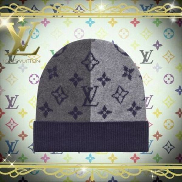 18AW Louis Vuitton(ルイヴィトン) MONOGRAM DIVIDE HAT 帽子 黒