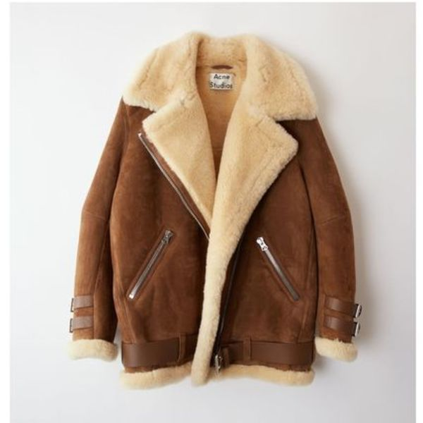 [Acne] Velocite lamb jacket Brown white ベロサイトジャケット