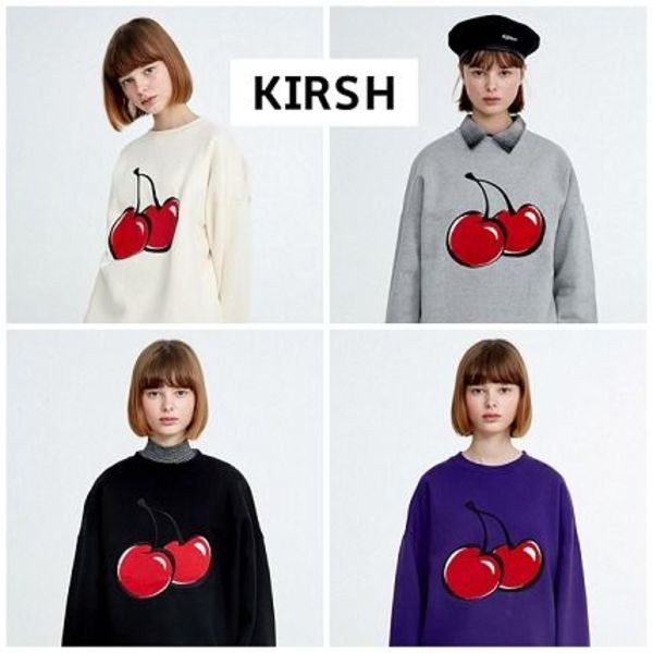 韓国トレンド☆KIRSH☆キルシー BIG CHERRY SWEATSHIRT HA