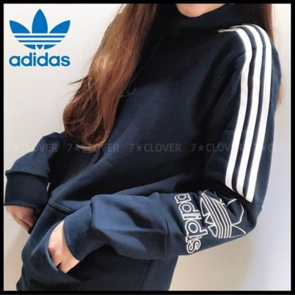国内発送!★adidas Originals★MEN'S TREFOIL OUTLINE HOODIE