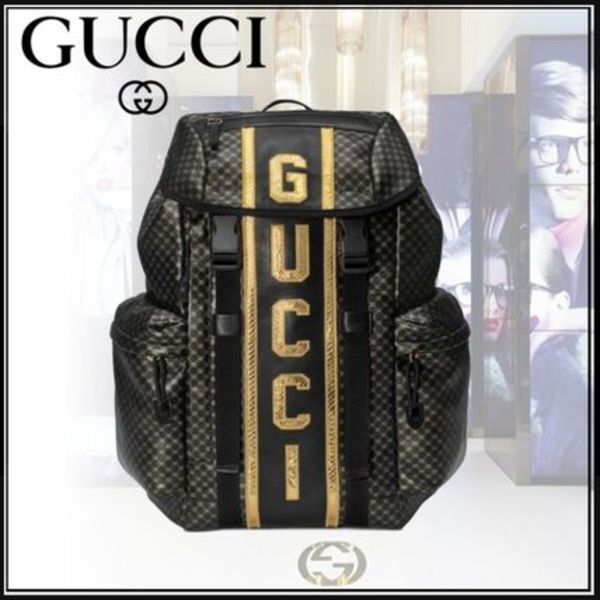 ★GUCCI *ダッパー・ダン* バックパック GG 18-19AW ★