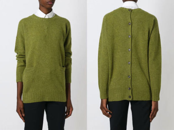15AW M091 MARNI back fastening oversized sweater