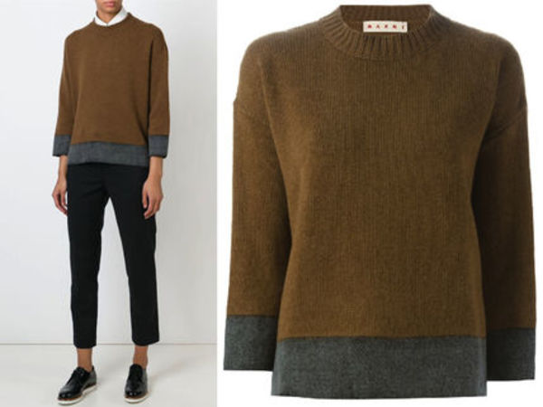 15AW M092 MARNI bi-color cashmere silk sweater