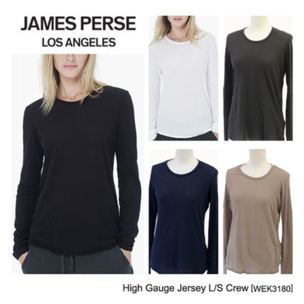 新作★JAMES PERSE High Gauge Jersey L/S Crew ロングシャツ